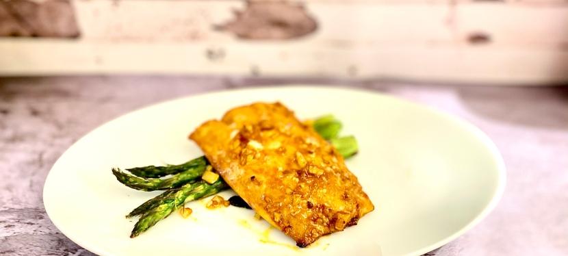Salmon With GochujangGlaze