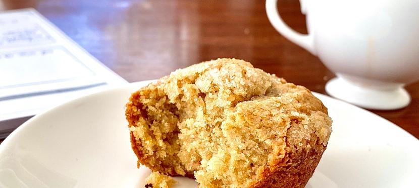 Luxurious breakfast: Gluten free mascarpone muffins with darkchocolate